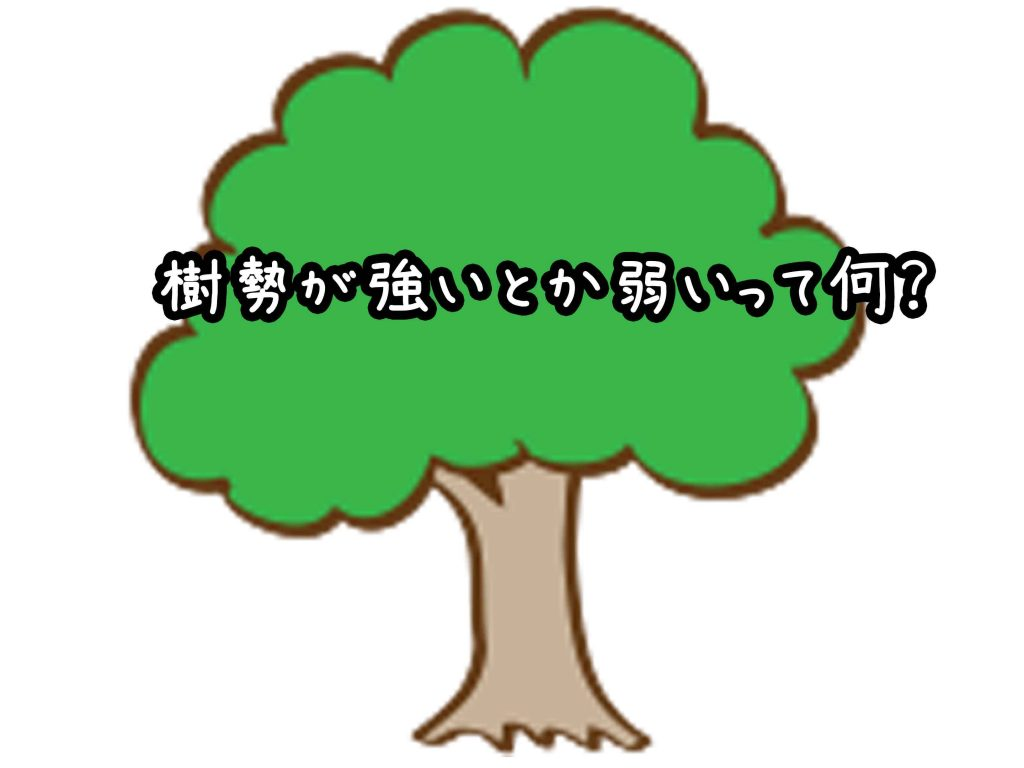 樹勢が強いとか弱いって何?